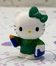 【震撼精品百貨】凱蒂貓_Hello Kitty~日本SANRIO三麗鷗 KITTY 開運擺飾-綠招手#30760