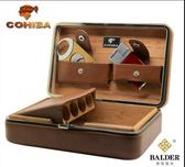 【家居優品】cohiba雪茄盒便攜保濕盒雪松木真皮雪茄盒保濕盒雪茄剪打火機套裝