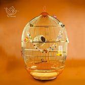鳥籠鸚鵡籠百靈畫眉八哥鷯哥虎皮玄鳳大型號金屬金色復古典鳥籠子jy【無敵3C旗艦店】
