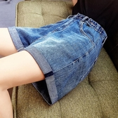 牛仔短褲女夏2019新款高腰A字顯瘦韓版寬松闊腿CHIC熱褲潮