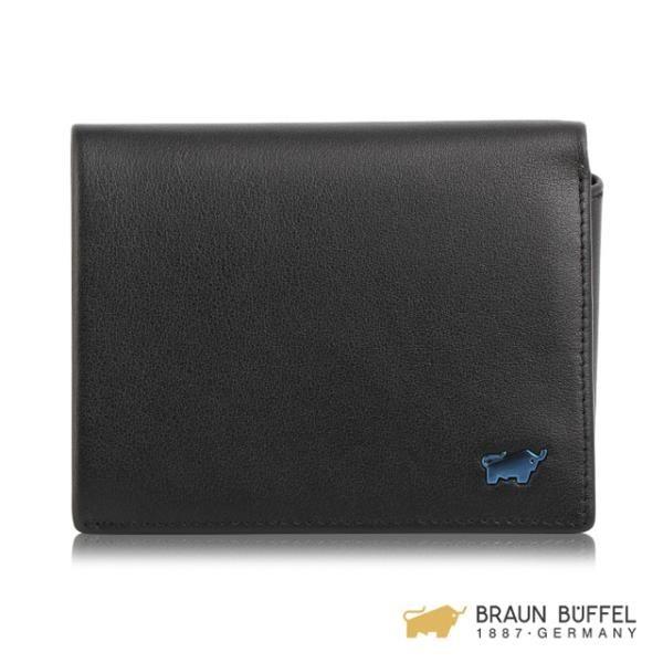 【南紡購物中心】BRAUN BUFFEL NEWNOMAD 新游牧族系列9卡左上翻皮夾 - 黑色 BF342-333-BK