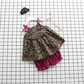 女童裝夏季套裝吊帶短褲子女寶寶棉女嬰兒1235-6歲中小童夏裝 小確幸生活館