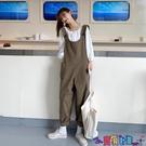 吊帶褲 背帶褲女韓版寬鬆2021新款春季秋洋氣減齡復古港味可愛工裝吊帶褲新品