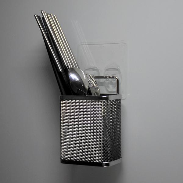 小餐具筷架 304不鏽鋼無痕掛勾 易立家生活館 舒適家企業社 廚房收納刀叉湯匙筷子瀝水架 筆筒