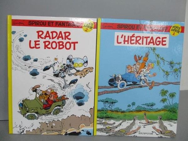 【書寶二手書T5/少年童書_EXT】Spirou Et Fantasio-Radar le Robot等_2本合售