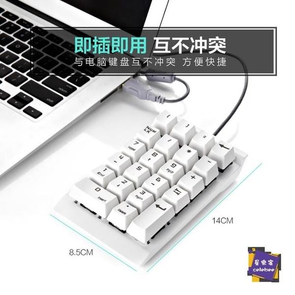 數字鍵盤 機械數字小鍵盤財務會計收銀出納銀行筆記本電腦外接有線USB青軸