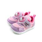 Hello Kitty 凱蒂貓 休閒鞋 電燈鞋 魔鬼氈 粉紫色 小童 童鞋 719841 no800