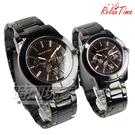 RELAX TIME 經典簡約時刻三眼 情人對錶 藍寶石水晶 防水黑鋼 玫瑰金 R0800-16-10X+R0800-16-10