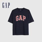 Gap男裝 Logo純棉圓領短袖T恤 688537-海軍藍