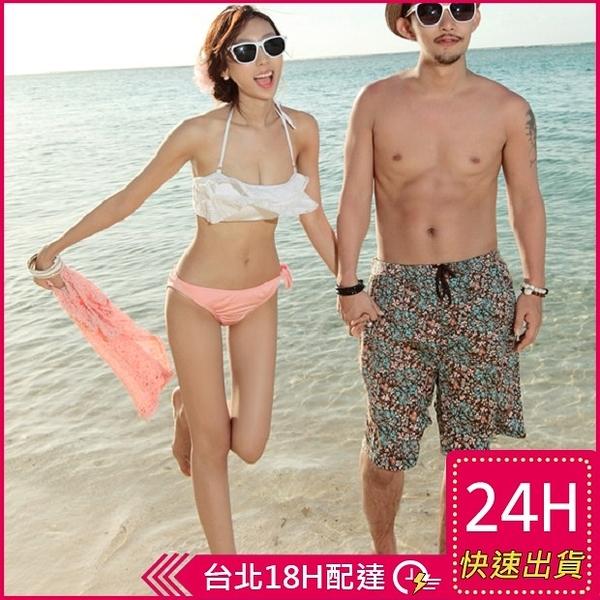 【現貨免運】梨卡 - 韓國製三件套含罩衫比基尼Bikini[韓國空運]平口蛋糕 荷葉邊蕾絲泳裝KR094