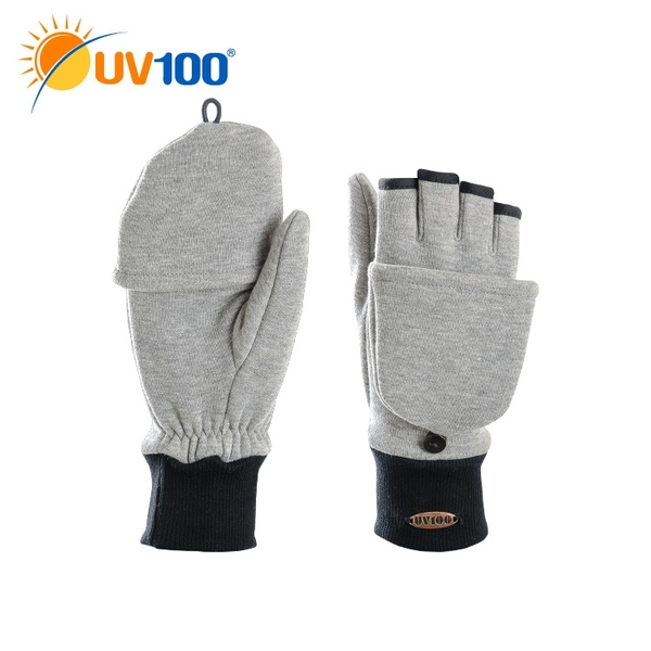 UV100 防曬 抗UV 保暖刷毛彈性手套-翻蓋兩用