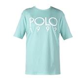 【南紡購物中心】Ralph Lauren POLO膠字圓領短袖T恤-薄荷綠
