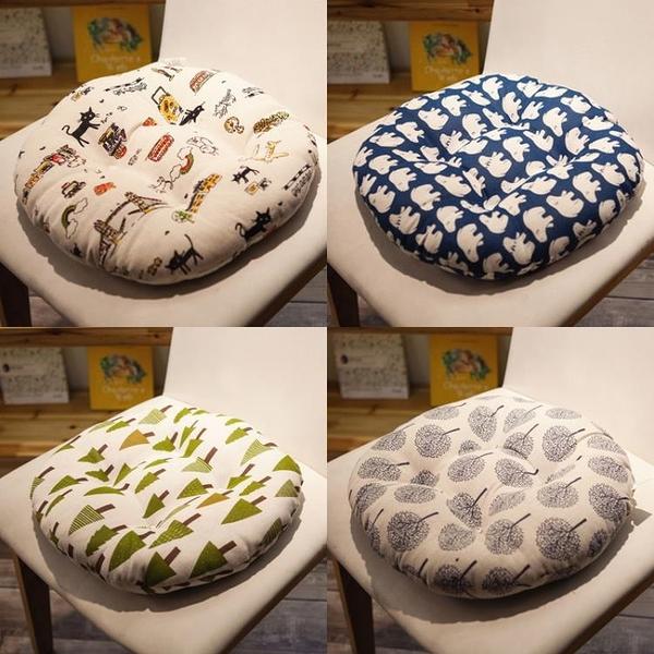 圓形蒲團沙發墊凳子椅子坐墊椅墊加厚四季通用布藝榻榻米辦公室車