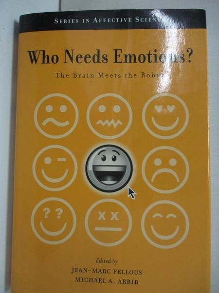 【書寶二手書T1/大學理工醫_KFT】Who Needs Emotions?: The Brain Meets the Robot