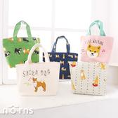 【日貨動物手提袋M號 柴犬】Norns 帆布袋 柴田先生 黑柳小姐 便當袋 購物袋 輕便小托特包
