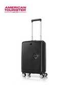 AT美國旅行者 20吋 Curio 前開式立體唱盤刻紋硬殼拉鍊箱 登機箱/旅行箱-(黑) AO8