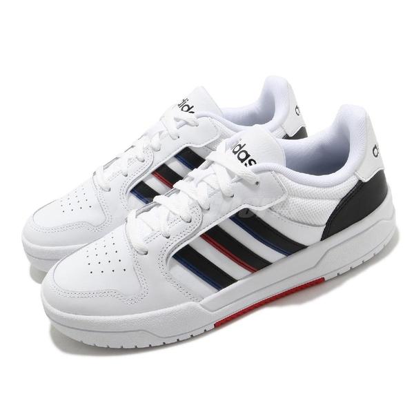 adidas 休閒鞋 Entrap 白 黑 小白鞋 男鞋 基本款 愛迪達【ACS】 FY6075