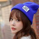 【BlueCat】六排文字款反摺毛帽