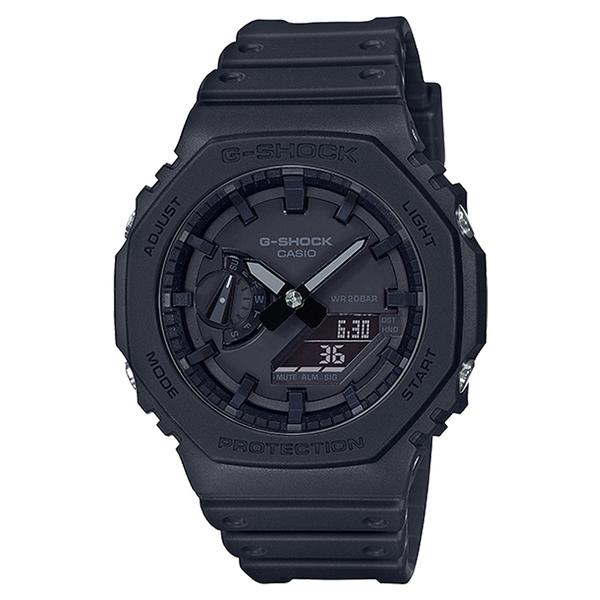 CASIO 卡西歐手錶專賣店 G-SHOCK GA-2100-1A1 雙顯錶 碳纖維防護構造 樹脂錶帶 防水200米 GA-2100