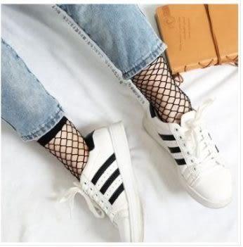 現貨-小網中網短款漁網襪(3雙裝)