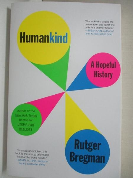 【書寶二手書T3/歷史_KE1】Humankind: A Hopeful History_Rutger Bregman