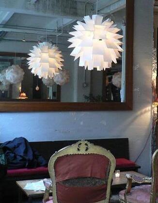 美術燈 北歐現代簡約客廳餐廳美式鄉村創意樓梯吊燈PP松果吊燈(大號) - 不含光源