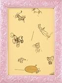 迪士尼108P雕刻框(粉紅)  /18.2*25.7cm/Tenyo/框/塑膠框/日本進口