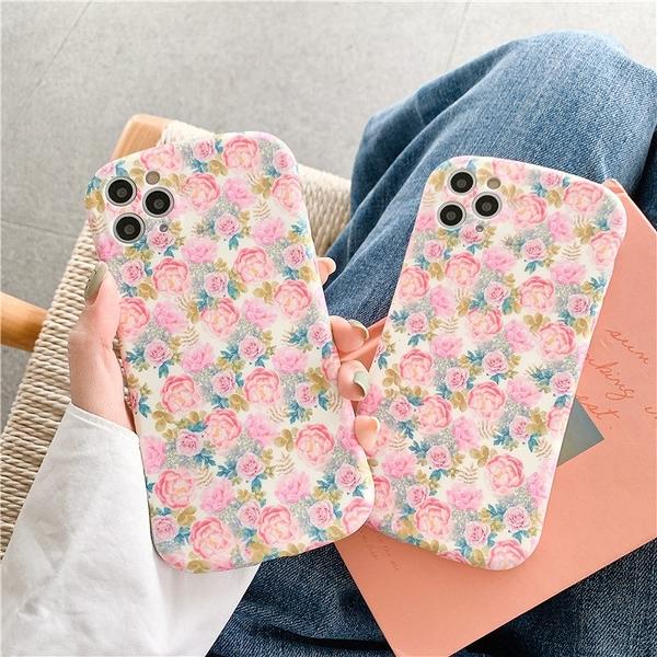 滿版浪漫玫瑰 適用 iPhone12Pro 11 Max Mini Xr X Xs 7 8 plus 蘋果手機殼