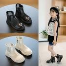 馬丁靴女童靴子2021夏季單靴鏤空網面兒童短靴中大童厚底chic童靴 一米陽光