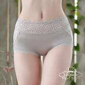 La Queen 滾邊蕾絲微透性感小褲 (7352銀灰)