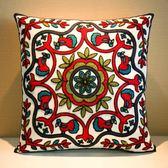 刺繡花靠枕床頭靠墊抱枕套辦公室沙發汽車護腰枕靠背含芯WY