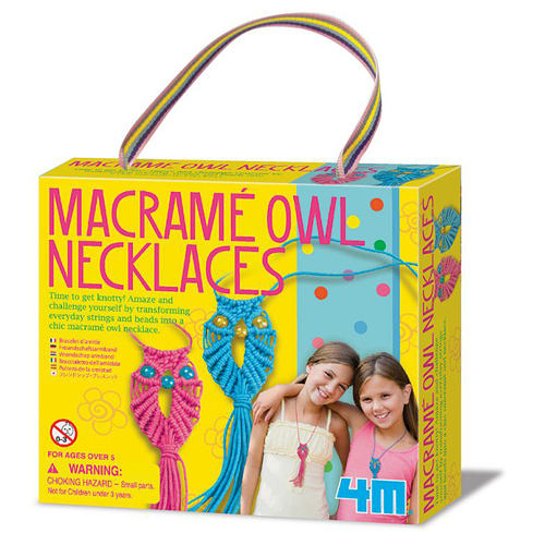 《 4M美勞創作》好朋友貓頭鷹項鍊 Macrame Owl Necklace  ╭★ JOYBUS玩具百貨