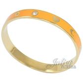 茱麗葉精品【專櫃款 全新現貨】 COACH 87950 經典品牌圖樣窄版手環.橘/金