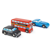 【美國Tender Leaf Toys】英倫車組(倫敦經典車款)