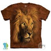 摩達客-(預購)(大尺碼4、5XL)美國進口The Mountain 萬獸獅王 純棉環保藝術中性短袖T恤
