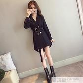 風衣女中長款小個子2020新款秋裝今年流行外套韓版寬鬆薄大衣秋冬 牛轉好運到