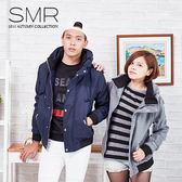 大尺碼款~太空帽立領外套--百搭情侶款《99959027》藍色.灰色共2色【現貨+預購】『SMR』