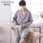 長袖睡袍男士睡衣浴袍純棉和服日式中長款全棉薄款浴衣