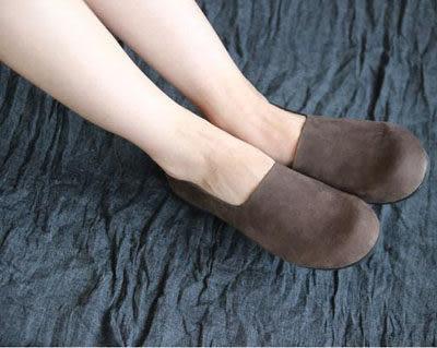 手工真皮鞋簡約復古森林系頭層牛皮懶人鞋