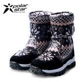 PolarStar 兒童 保暖雪鞋│雪靴│冰爪『黧黑』 P16631 (內厚鋪毛/ 防滑鞋底) 雪地靴.