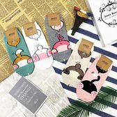 【KP】韓國 22-26cm 可愛動物 屁屁 狗狗 兔子 小豬 小熊 貓咪 成人襪 直版襪 襪子 DTT10000694