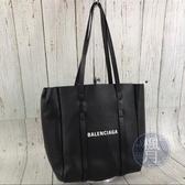 BRAND楓月 BALENCIAGA 巴黎世家 489813 黑色皮革 托特包 購物包