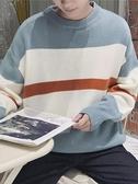毛衣男厚款冬季韓版學生潮流個性慵懶風cec針織衫ins港風條紋線衣春季新品