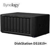 Synology 群暉科技 DiskStation DS1819+ 8Bay NAS 網路儲存伺服器
