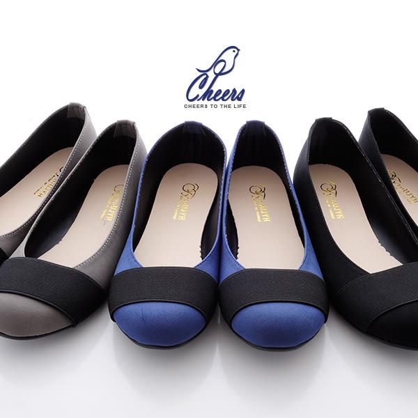 平底鞋。鵲兒cheers*織帶設計簡約圓頭平底鞋-三色 現貨 【H711】