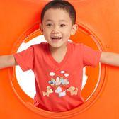 【愛的世界】純棉V領小狗短袖T恤/8歲-台灣製- ★春夏上著