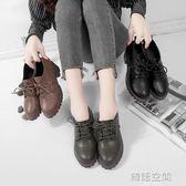 小皮鞋女英倫學院風粗跟中跟高跟鞋百搭復古女鞋單鞋 韓語空間