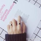 情侶戒指男女式戒指簡約光面開口戒指指環潮流情侶對戒子 聖誕交換禮物