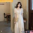 熱賣雪紡洋裝 雪紡連身裙女2021新款小個子高腰顯瘦約會赫本風收腰仙女裙夏 coco