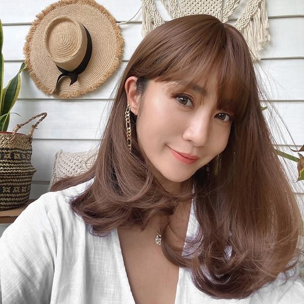 全頂假髮 韓系梨花頭 中長髮 蜂蜜茶色 H6136 魔髮樂